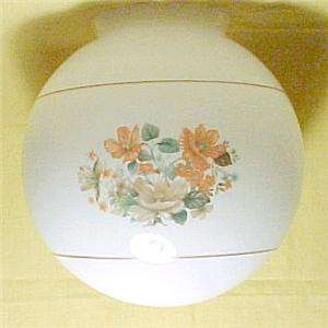White Glass Floral 4 X 8 Ceiling Fan Light Globe Shade 022011501482
