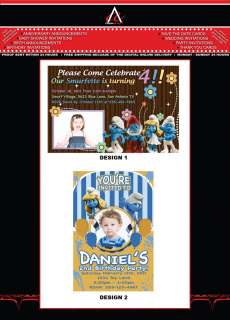 THE SMURFS CUSTOM BIRTHDAY PARTY INVITATIONS
