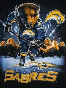 GC NHL HOCKEY BUFFALO SABRES BISONS TOP GRAPHIC TEE SHIRT