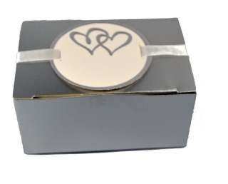 Platinum Truffle Wedding Favor Box Kit 50ct 634680695982