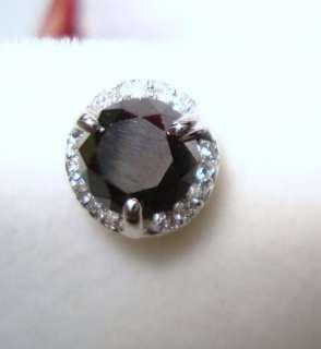 14K WG BLACK & WHITE DIAMOND SINGLE STUD EARRINGS VVS1