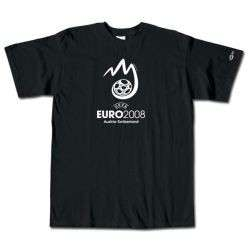 adidas Euro 2008 Official Logo Tee BLACK MEDIUM