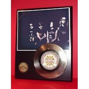 Gold Record Outlet METALLICA 24kt Gold Record Display LTD