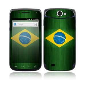 Flag of Brazil Decorative Skin Cover Decal Sticker for Samsung Exhibit