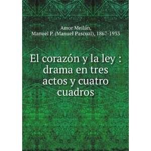 cuadros: Manuel P. (Manuel Pascual), 1867 1933 Amor Meilán: Books