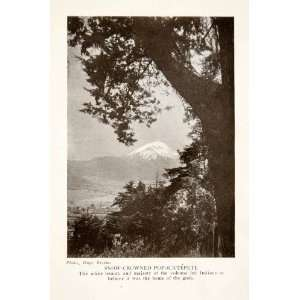 1924 Print Popocatepetl Volcano Mountain Puebla Mexico
