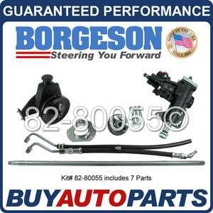 GENUINE BORGESON POWER STEERING CONVERSION KIT 65 66 FORD MUSTANG 6