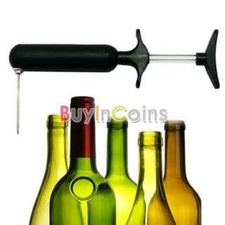 Needle Pin Pump Mess Free Wine Bottle Opener Corkscrew Set