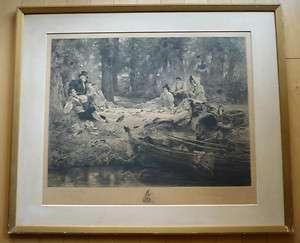 Dendy Sadler, LISTED, European Printmaker, vintage signed Print