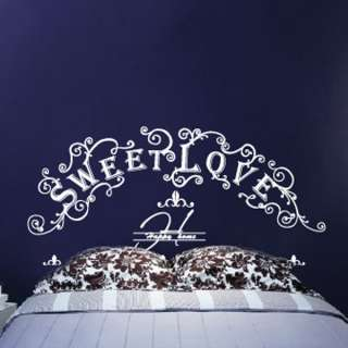 Sweet Love Bed Frame STICKER Removable Adhesive Decals
