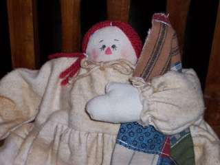 Sweet Baby Annie Handmade Raggedy Primitive Doll New
