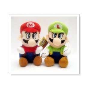 Super Mario Brothers  Mario & Luigi Plush Set   8 (with