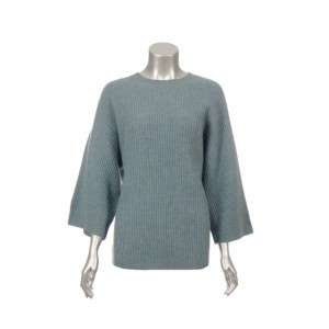 Sutton Studio Womens Blue Wool Ribbed Sweater M