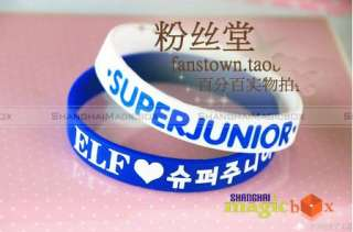 Colors Super Junior SJ Fans Wrist Band Bracelet #008