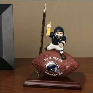 San Diego Chargers Team Spirit Mascot Football Clock and