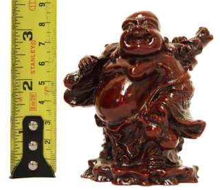 NEW LUCKY LAUGHING BUDDHA STATUE WITH WEALTH SACK CHINESE FENG SHUI