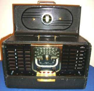 Vintage 40s 50s Zenith TransOceanic Short Wave Radio G500 Works