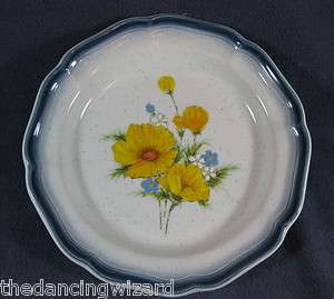 Country Club CA503 Amy Salad Plates Bule Yellow Flowers Floral (M8