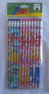 12 pc Sesame Street Elmo Party Favor Stationery Pencil