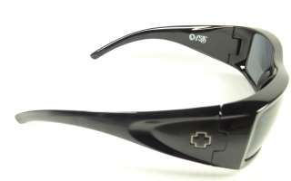 NEW Spy Optic Oasis Sunglasses Black Frame Grey Lens