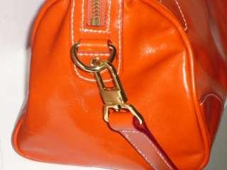 Burnt Orange Cowhide Leather Satchel Shoulder Bag NWOT $159