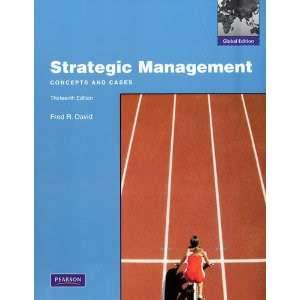 Strategic Management 13th edition Fred R. David 9780136120988