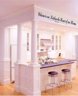 Welcom to our Kitchen the Heart of our Home Vinyl Wall Art Decals