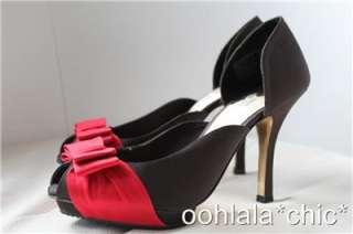 ISABEL TOLEDO Payless Toreador Black Bow Heels Shoes
