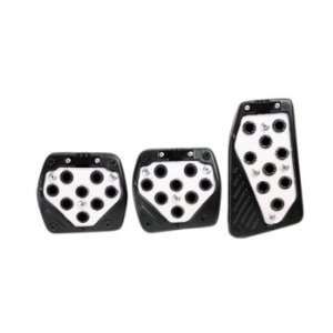 Glow White With Black Outer Rim 3pcs Manual Transmission Racing Pedals