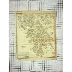 STRAND ANTIQUE MAP c1790 c1900 GREECE GRECIA ANTIQUA Home