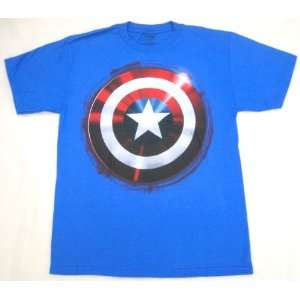 Marvel Comic Captain America Shield T Shirt Youth Medium