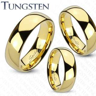 Tungsten Carbide Gold Plated Classic Band Couple Ring, Wedding Ring