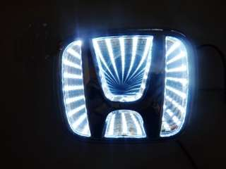new White 3D LED Car Decal Logo Light Badge Lamp Emblem Sticker for