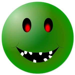Smiley Green Zombie Funny car bumper sticker 4 x 4