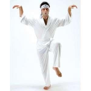 Kid Daniel San White Ninja Mens Fancy Dress Costume Toys & Games