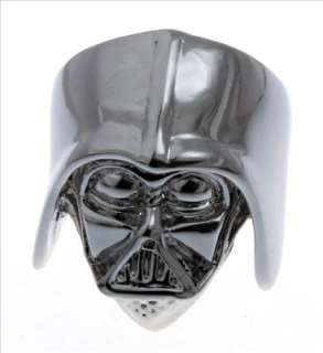 Star Wars Darth Vader Helmet Skull Silver Ring Size 7