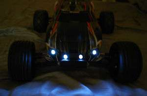 RC Headlights Team Losi Truck Car 2 Blue & 2 Red LEDs