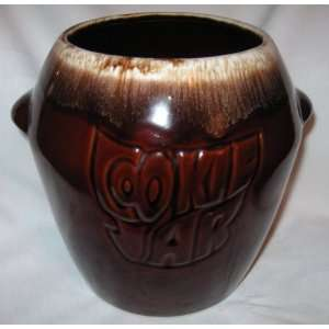 McCoy Pottery Brown Drip Cookie Jar