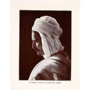 1927 Halftone Print Algerian Arab Africa Costume Man Turban Race