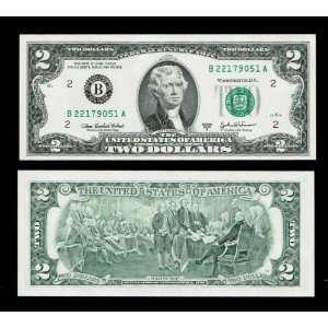Series 2003A ($2) Two Dollar Bill Federal Reserve Note