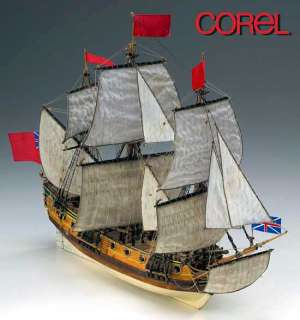 COREL HMS Peregrine wood ship model kit NEW