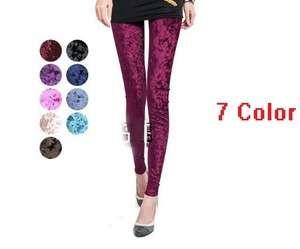 High quality Lady Celeb Velvet Soft Stretch Leggings Slim Fit Pants