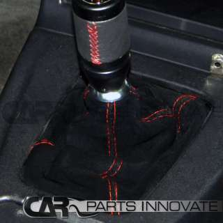 JDM M/T BLK SUEDE SHIFT BOOT+RED STITCH SOLARA TACOMA
