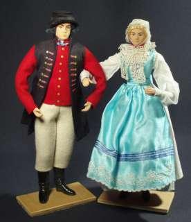 LARGE Polish Doll Couple ethnic folk costume 15 handmade regional