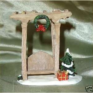 Holiday Time Bench/Village Accessory/Christmas Village