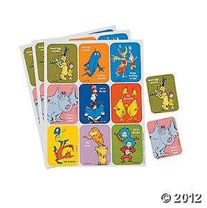 EUREKA #650022 36 Dr. Seuss Character Stickers NEW