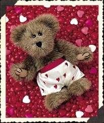 Boyds NEW VALENTINE Bear, Macho Heartthrob in cute BOXERS
