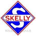 12 SKELLY SHIELD GAS PUMP GASOLINE OIL DECAL