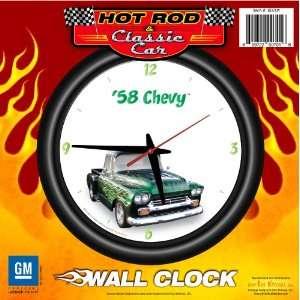 Pick Up Truck 12 Wall Clock Flames   Chevrolet, Hot Rod, Classic Car