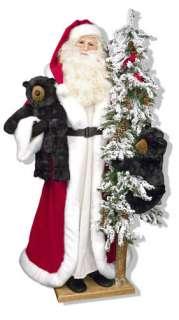 Ditz FATHER CHRISTMAS 5 foot tall SANTA Alpine Christmas w/Tree & 2